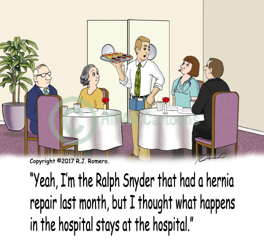 Cartoon-waiter-in-restaurant-patient-privacy-hernia_p180