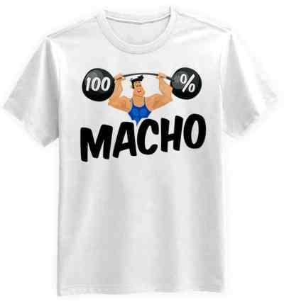100% Macho Biała