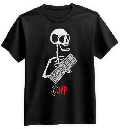Gracz-Halloween-0HP-czarna-koszulka