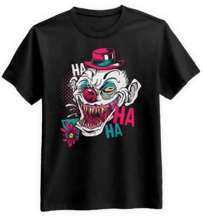 Straszny-Clown-czarna-meska-koszulka