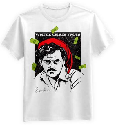 Koszulka Prezent Białe-Święta-Escobar