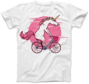 Jednorożec na rowerze Biała