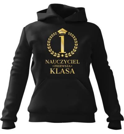 Bluza z kapturem Nauczyciel 1 Klasa Czarna