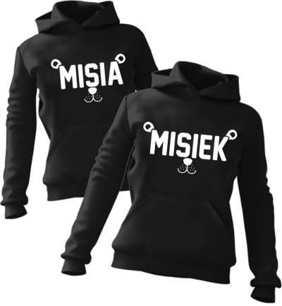 Zestaw bluz z kapturem Misia & Misiek