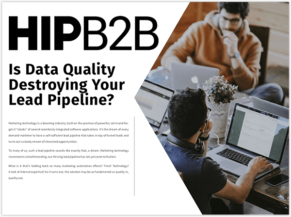 Data Quality Destroying Lead Pipeline Cover
