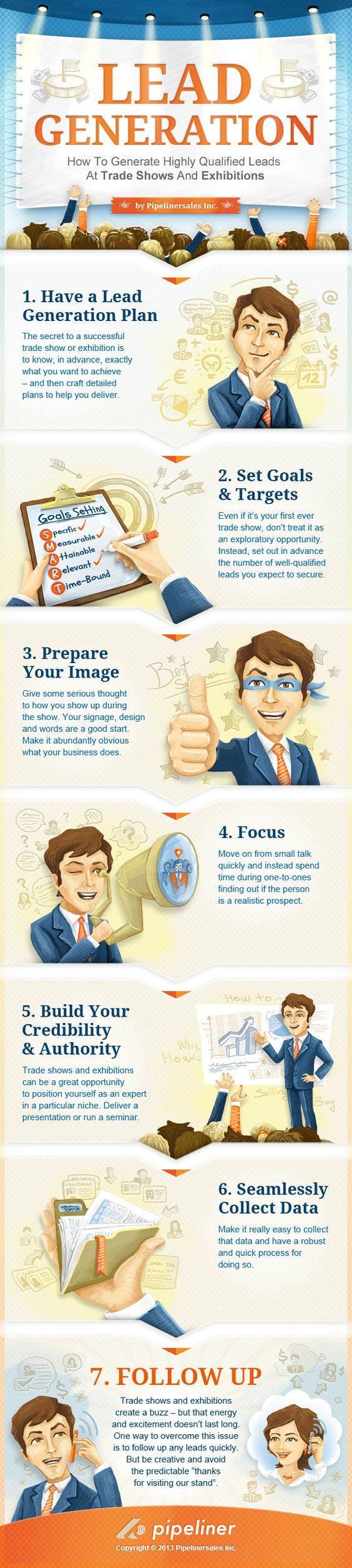 Infographic - How to Generate Highly Qualified Leads at Trade Shows and Exhibitions by Pipeliner