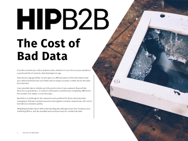 The Cost of Bad Data