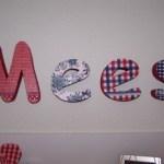 Piepschuim letters