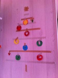 kerstboom masking tape