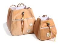 gold fabric bag