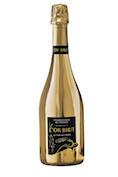 gouden fles bubbels
