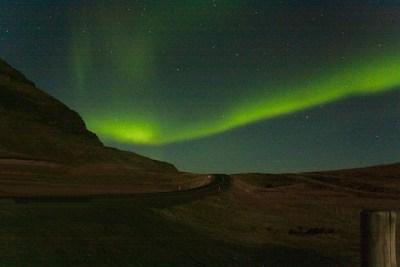 prachtig noorderlicht berg okt 2019 ijsland