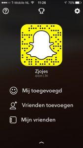 Snapchat vrienden toevoegen