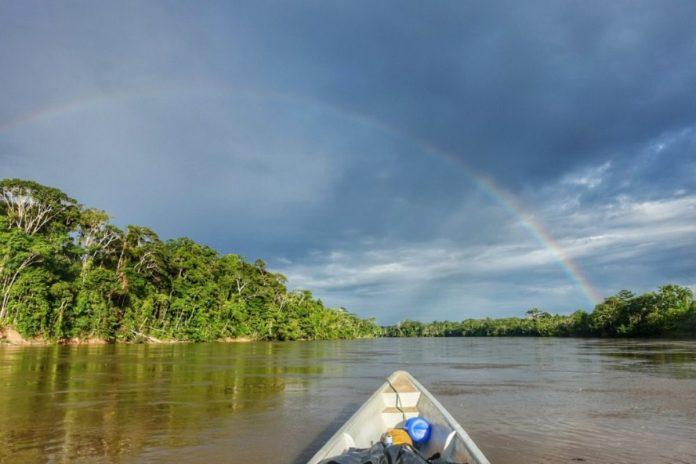 Regenboog in de Amazone