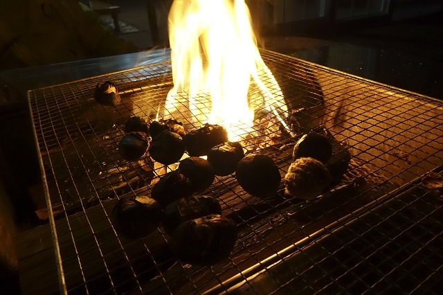 vlees op de winterbarbecue