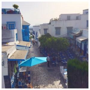 straatbeeld Sidi Bou Saïd