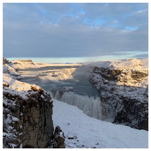 gullfoss waterval ijsland
