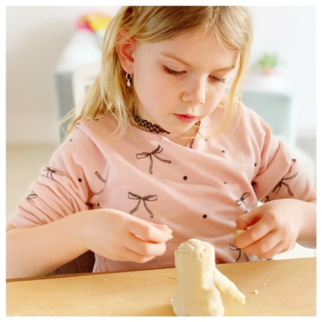 nauwkeurig knutselen met zoutdeeg of brooddeeg