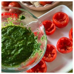 tomaten met spinazie
