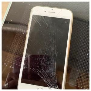 telefoonscherm kapot ster