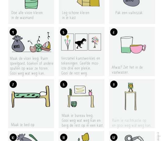 Zo leer je je kind zijn kamer opruimen