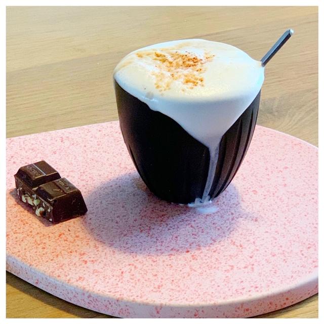 luckycup gemaakt van koffie