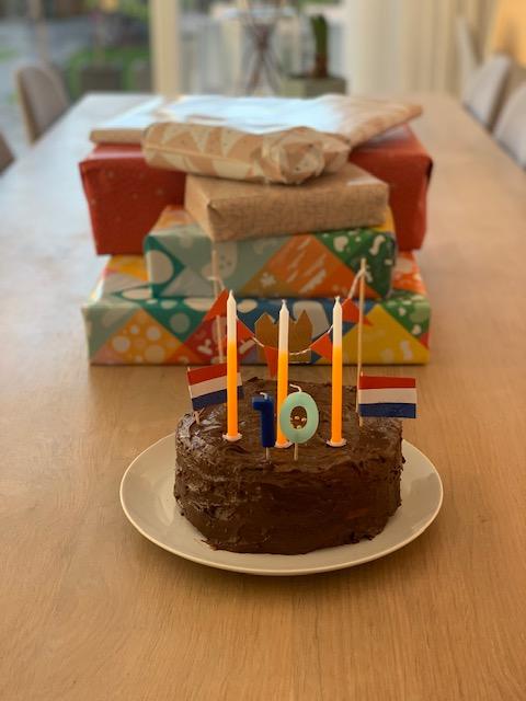Yuren verjaardagstaart 10 jaar