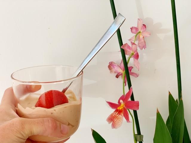 Koolhydraatarm cacao slagroom ontbijt