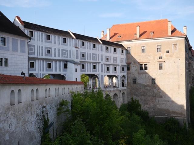 poort naar kasteel cesky krumlov boven