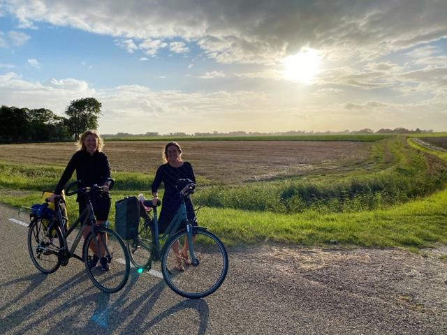 's morgens vroeg op de fiets elfstedentocht