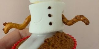 sneeuwpop cupcake