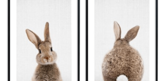 posters konijnen pasen in je interieur