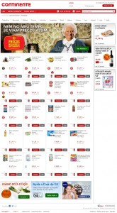 Homepage Nova Loja Continente Online
