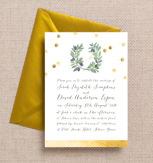 Greek Themed Wedding Invitations Paperinvite