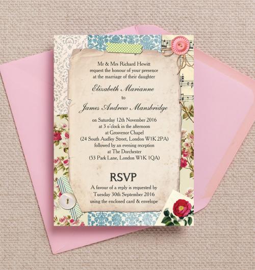 Printable Invitations Postcard