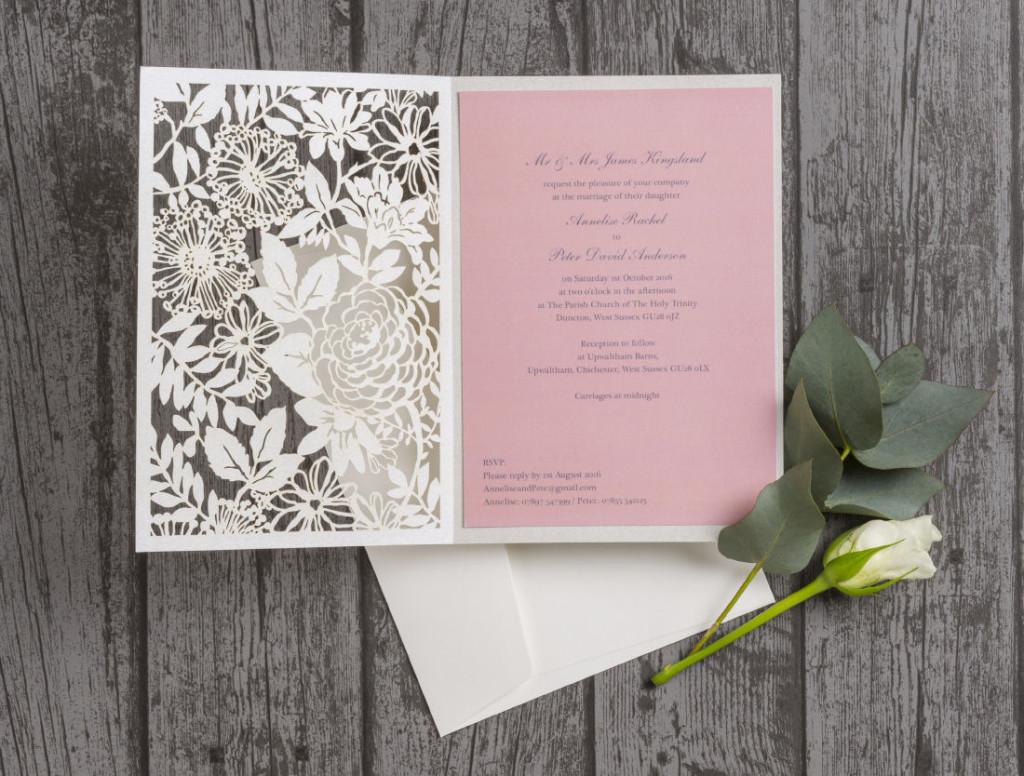 Beautiful Laser Cut Wedding Invitations