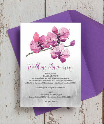 Golden Wedding Invitations Gold Anniversary 6 With 1 3 Card Attachments Us 60 Each Php 150 00