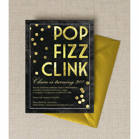 'Pop Clink Fizz' Champagne Prosecco Themed Birthday Party