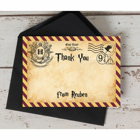 Witches Amp Wizards Thank You Card From 075 Each