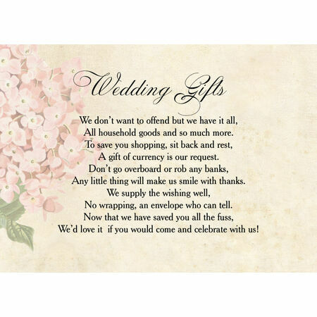 Wedding Invitation Wording Gift List Money Invite Ideas Budget