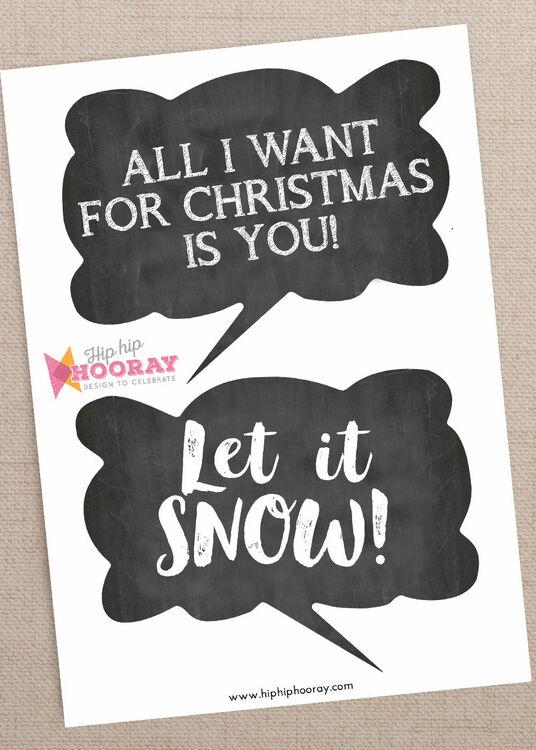 Christmas Holiday Chalkboard Speech Bubble Slogans