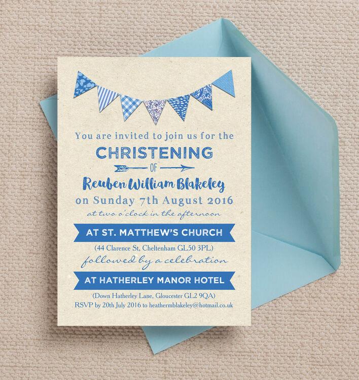 Baptism Invitations Vintage
