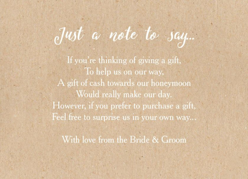 Wedding Thank You Note Wording Cash Gift : Wedding Invitation Wording For Money Gifts Wedding Invitation ...