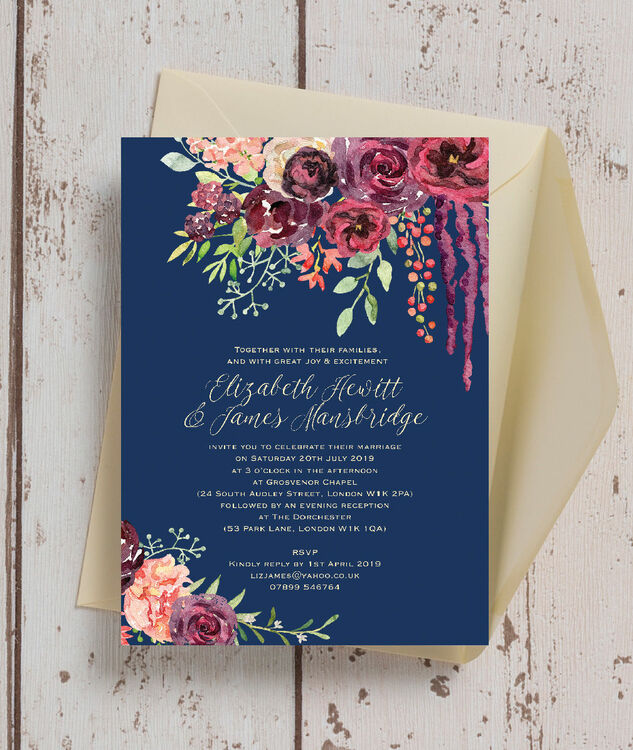 Together Their Families Wedding Invitations