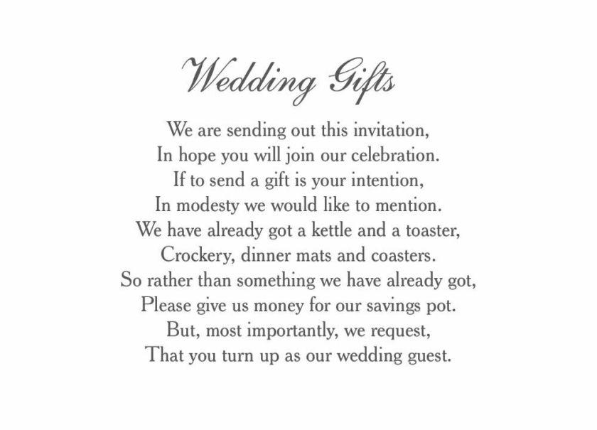 Clic Wedding Gift Wish Card Additional 3