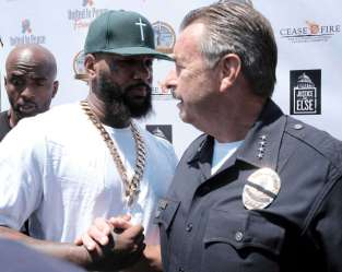 The Game & L.A.'s chief of police are joining forces to end violence.