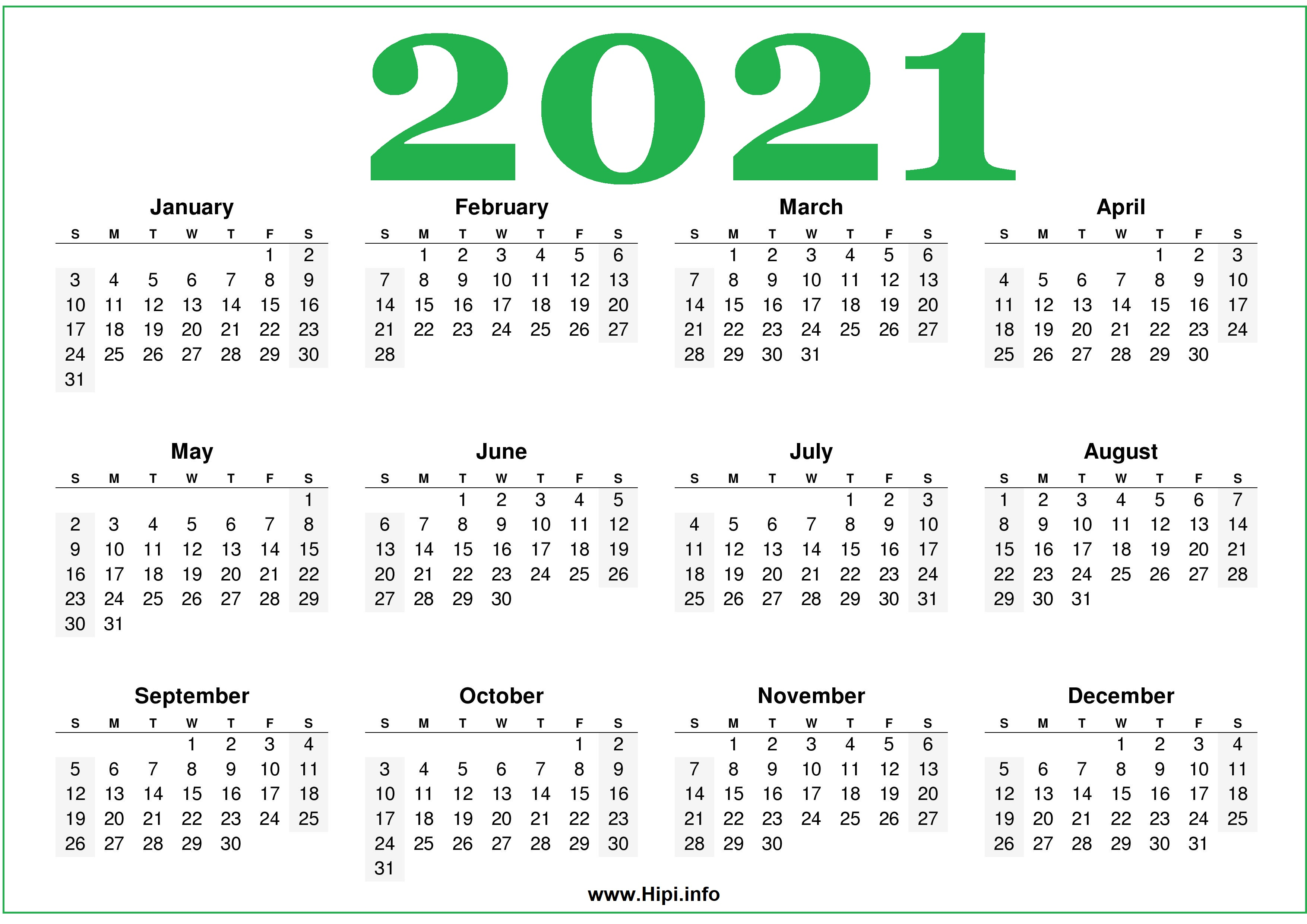 Our editors independently research, test, and recommend the best products; Free Printable 2021 Calendars Horizontal - Hipi.info ...