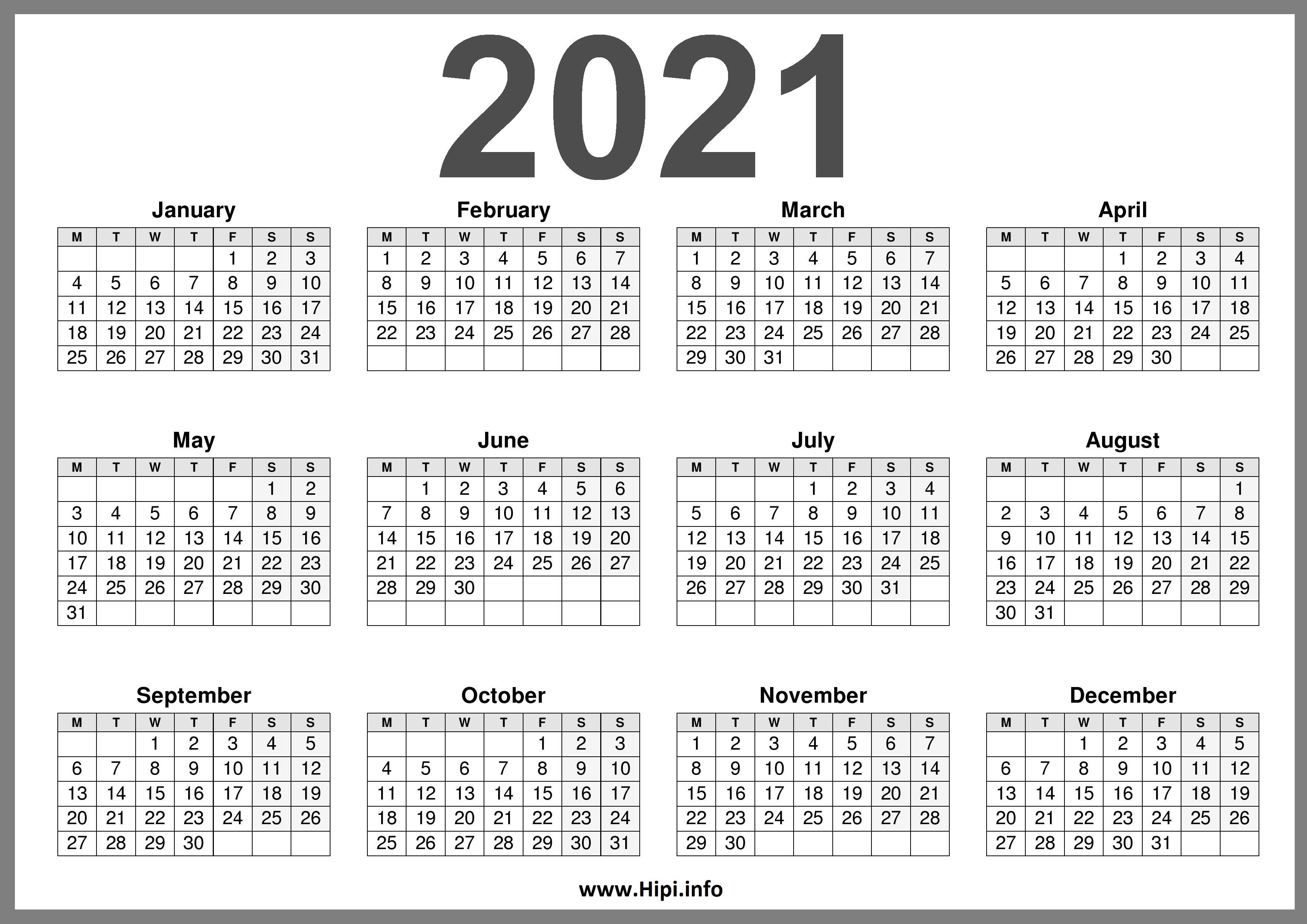2021 Calendar Uk Printable A4   2022 Calendar
