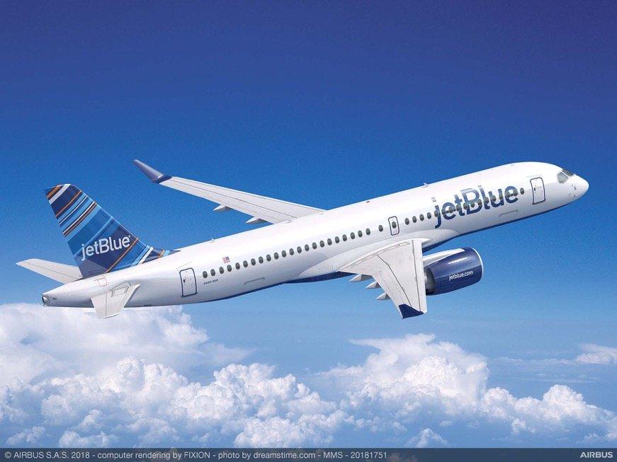 Airbus A220-300: 60 esemplari per JetBlue