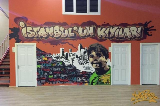 Turbo Fox TV N'olur Ayrılalım Dizi Seti Graffiti Çalışması